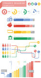 Gráfico de las finanzas stock de ilustración