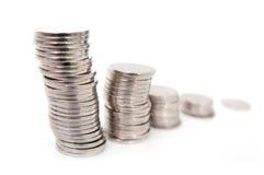 Gráfico de las monedas Imágenes de archivo libres de regalías