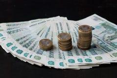 Gráfico de las monedas Foto de archivo