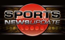 Gráfico de las noticias de los deportes Imágenes de archivo libres de regalías
