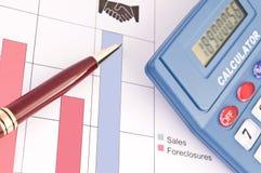 Gráfico de las ventas Foto de archivo libre de regalías