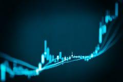 Gráfico de los datos del mercado de acción y financiero con el análisis común ind imagenes de archivo