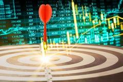 Gráfico de los datos del mercado de acción y financiero con el análisis común ind Imágenes de archivo libres de regalías
