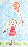 Gráfico de los niños Fotos de archivo libres de regalías