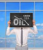 Gráfico de los precios del petróleo descendentes Fotos de archivo