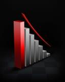 Gráfico de negócio ilustração royalty free