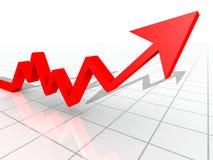 Gráfico de negócio Imagem de Stock