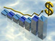 Gráfico de negócio Fotos de Stock Royalty Free