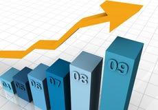 Gráfico de negócio 2004 - 2009 ilustração stock