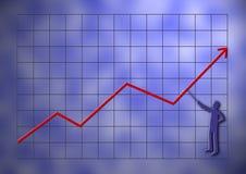 Gráfico de negócio Foto de Stock Royalty Free