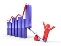 gráfico de negócio 3d Imagem de Stock Royalty Free