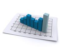 Gráfico de negócio 3d Fotos de Stock Royalty Free