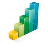 Gráfico de negócio 3D Imagem de Stock