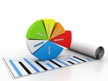 Gráfico de negócio Foto de Stock