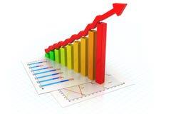 Gráfico de negócio Fotos de Stock