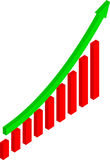 Gráfico de negócio Fotografia de Stock Royalty Free
