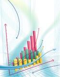 Gráfico de negócio abstrato Imagem de Stock Royalty Free