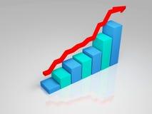 Gráfico de negócio (coluna do SE) Fotos de Stock Royalty Free