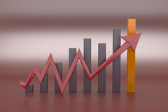 gráfico de negócio 3D Imagens de Stock
