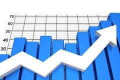 gráfico de negócio 3D no bachground branco Fotos de Stock
