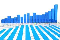 gráfico de negócio 3D no bachground branco Imagem de Stock Royalty Free