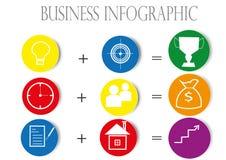 Gráfico de negócio da cor Imagem de Stock
