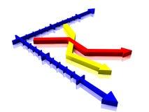 Gráfico de negócio da estatística ilustração stock