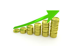 Gráfico de negócio da riqueza crescente Fotos de Stock