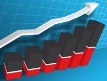 gráfico de negócio de 3 d Fotos de Stock Royalty Free