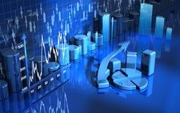Gráfico de negócio, diagrama, carta Fotografia de Stock Royalty Free