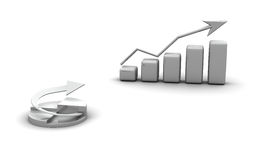 Gráfico de negócio, diagrama, gráfico da carta Foto de Stock Royalty Free