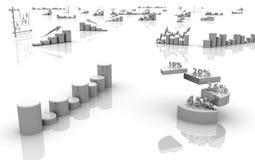 Gráfico de negócio, diagrama, gráfico da carta Fotos de Stock Royalty Free