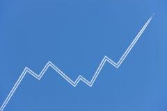 Gráfico de negócio do avião Foto de Stock Royalty Free