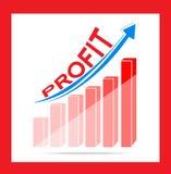 Gráfico de negócio do lucro ilustração stock