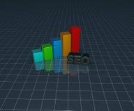 Gráfico de negócio e etiqueta do seo Fotos de Stock Royalty Free