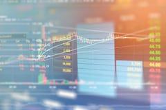 Gráfico de negócio e monitor do comércio do investimento Fotos de Stock Royalty Free