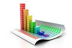 Gráfico de negócio econômico Fotos de Stock Royalty Free