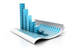 Gráfico de negócio econômico Fotografia de Stock Royalty Free