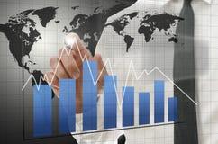 Gráfico de negócio interativo imagens de stock royalty free