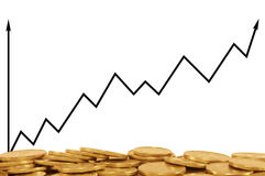 Gráfico de negócio positivo Fotografia de Stock Royalty Free