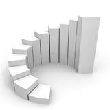 Gráfico de negócio que cresce acima Fotografia de Stock