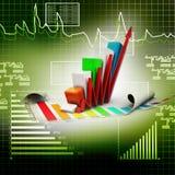 Gráfico de negócio que vai acima Foto de Stock Royalty Free