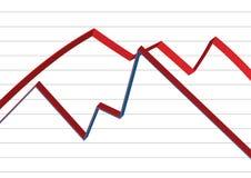 Gráfico de negócio - vetor imagem de stock