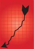 Gráfico de negócio - vetor Fotos de Stock