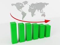 Gráfico de negocio stock de ilustración