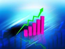 Gráfico de negocio ilustración del vector