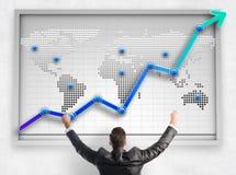 Gráfico de negocio grande que muestra crecimiento imagenes de archivo