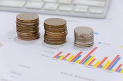 Gráfico de negocio de las finanzas imagen de archivo libre de regalías