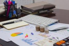 Gráfico de negocio de las finanzas imagen de archivo