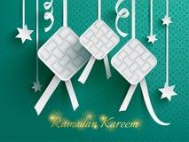 Gráfico de papel del ketupat (bola de masa hervida del arroz) Fotografía de archivo